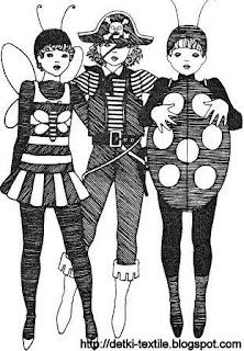 Карнавальные костюмы Пчелка, Пират, Бржья коровка