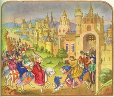 Въезд в 1389 г невесты дофина Изабеллы Баварской в Париж(Из хроники того времени)