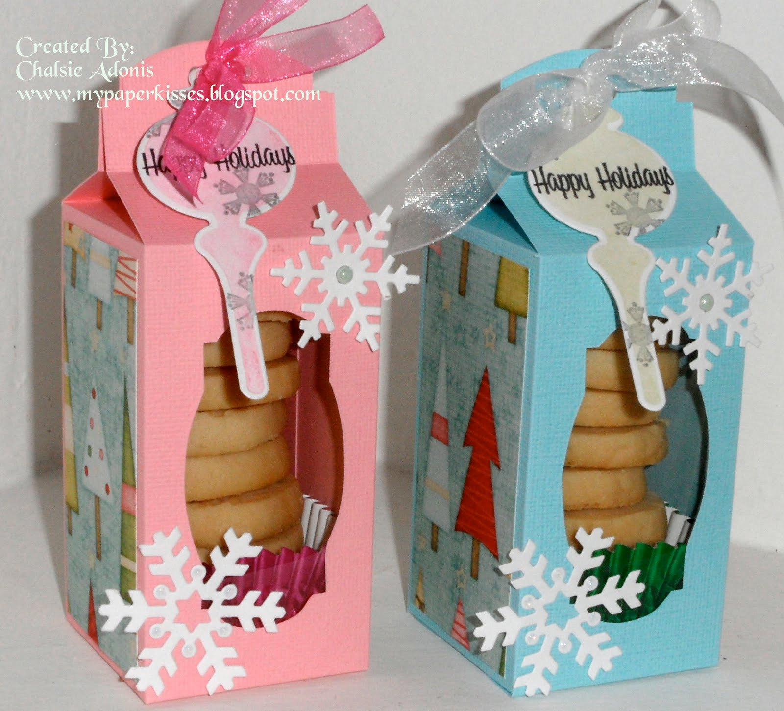 Paper Kisses: Christmas Cookie Boxes