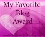 My Favourite Blog Award