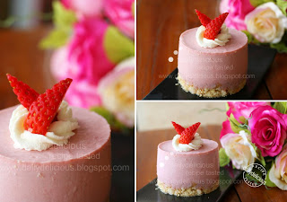 dailydelicious: Strawberry Yogurt Mousse Cake: Tangy sweet that you ...
