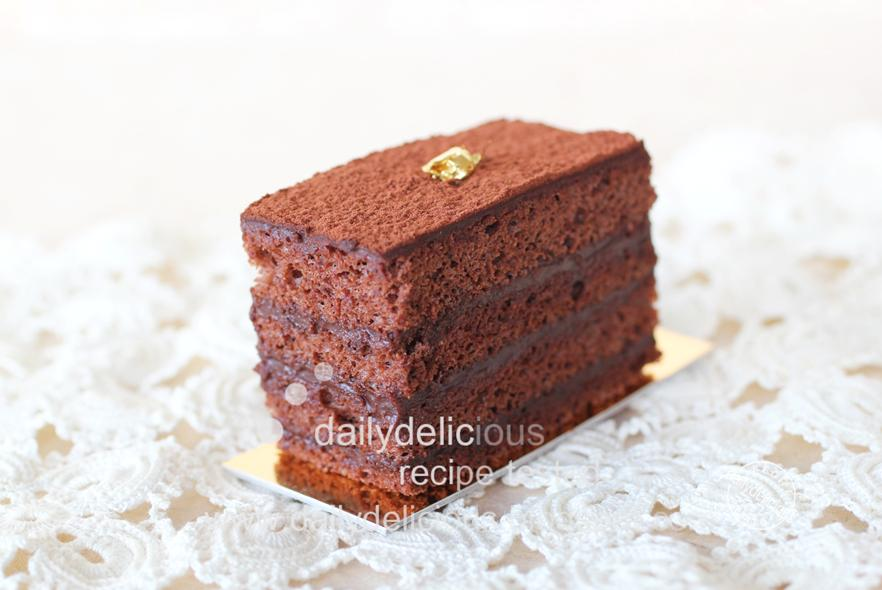 dailydelicious chocolate marquise mini size chocolate cake