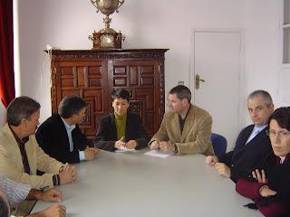 Imagen de la reunión de trabajo minutos antes de celebrarse
