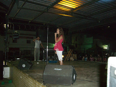 María Espinosa durante su actuación