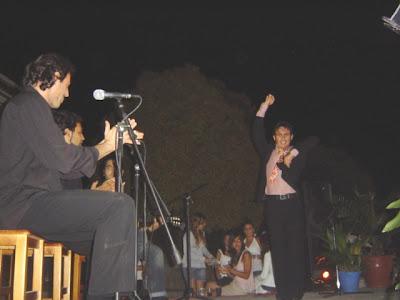David Pérez Almagro en su actuación de baile flamenco