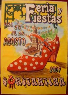 Cartel anunciador de la Feria 2007 de Constantina