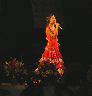 María Espinosa en el escenario