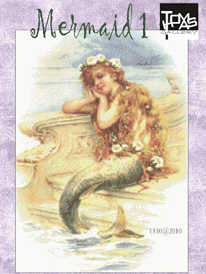 Mermaid cross stitch kit or pattern | Yiotas XStitch