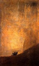 Perro semihundido - Francisco de Goya