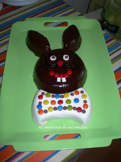 tarta cabeza de conejo