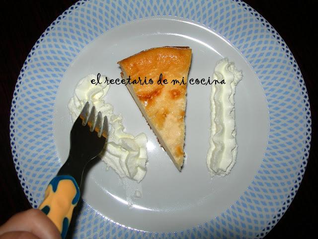 Tarta de queso de mi prima Inma