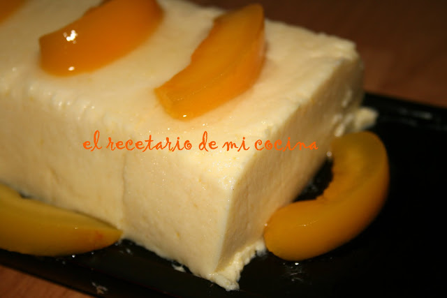 Tarta-flan de melocoton light