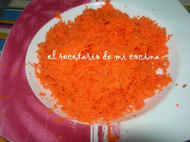 bizcocho de zanahorias