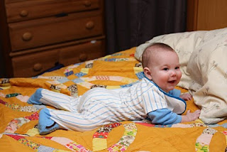 Mason on the bed