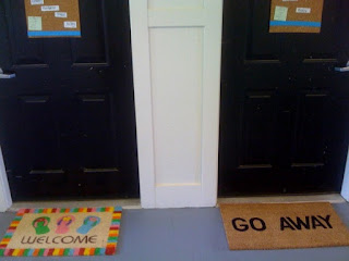 Welcome and Go Away mats