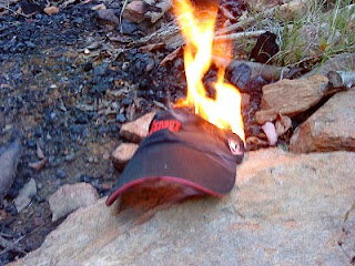 Burning hat
