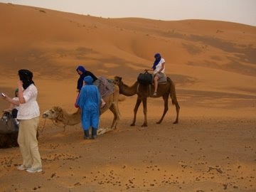 Dismounting Sammy the Camel