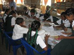 Children settle to work in Region Two