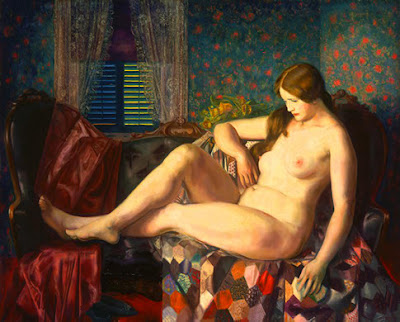 Girl With Horizon Quilt. George Bellows. that the nudes were..uh...not nude ...