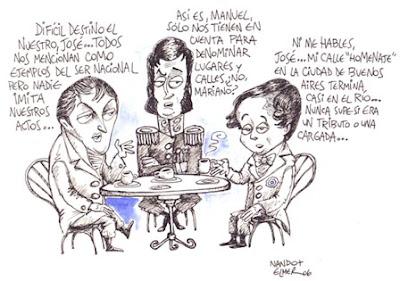 ´Café de los Próceres´ el Dibujo para la Concurso Hacia el Bicentenario por Nando y Elmer