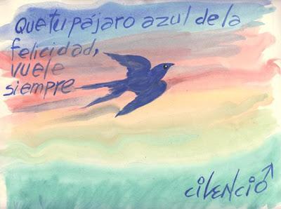 El pájaro azul, la tarjeta de Cilencio