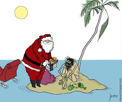 Tarjeta de Marcos Severi: Navidad con humor negro