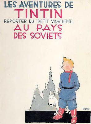Portada de Las aventuras de Tintín en el país de los soviets