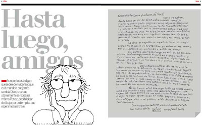 Hasta luego, Amigos: La carta donde Quino anuncia que deja de dibuja por un tiempo