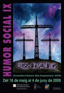 Afiche de la 9° Muestra de Humor Social en la Universidad de Alicante