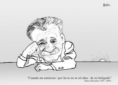 Mario Benedetti por Bonil