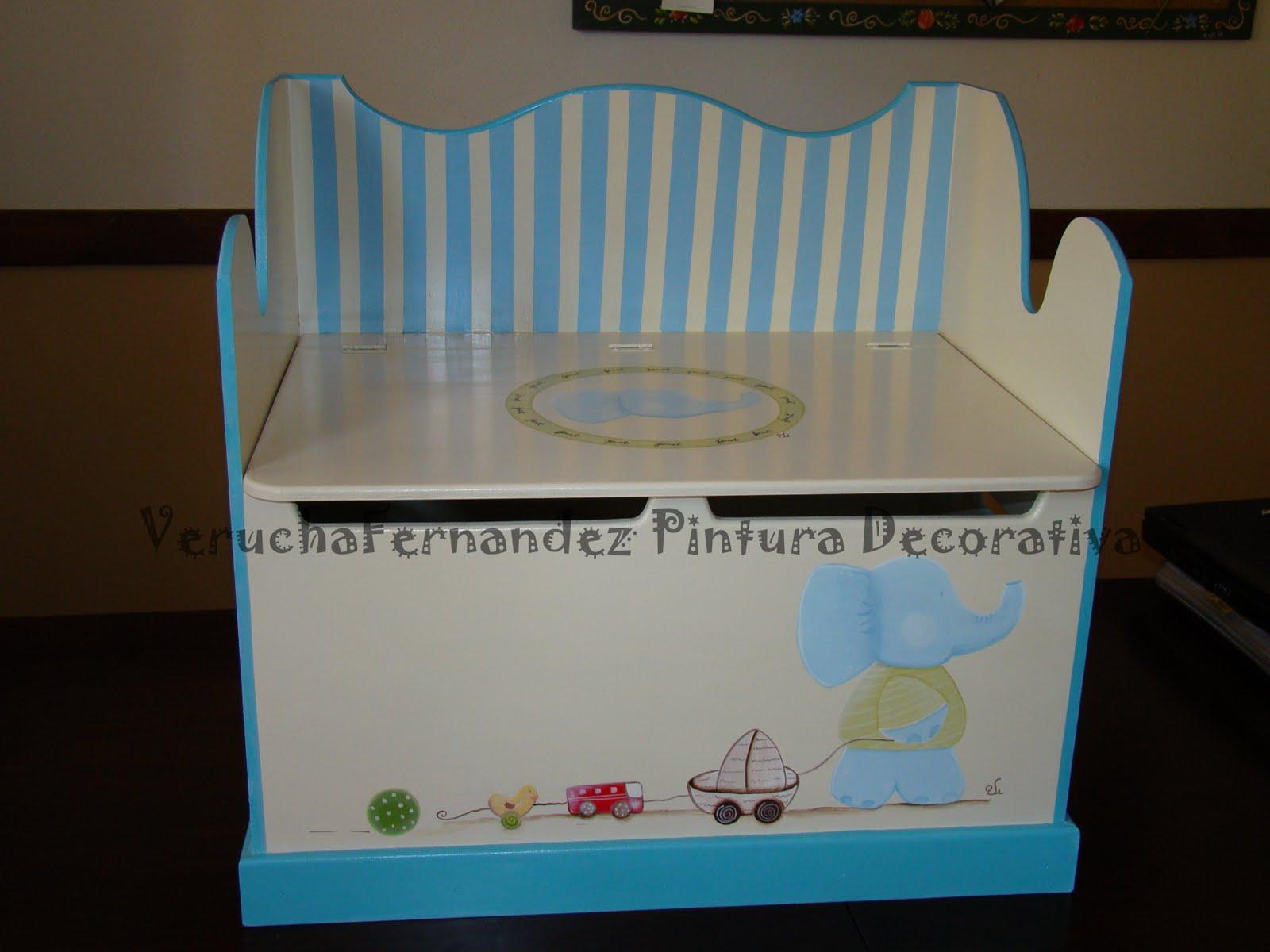 Pintura decorativa baul asiento para guardar juguetes - Baul para guardar juguetes ...