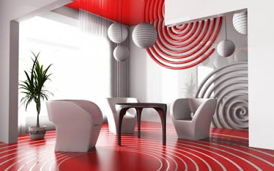 Living Room Modern Design on Modern Living Room Abstract Design