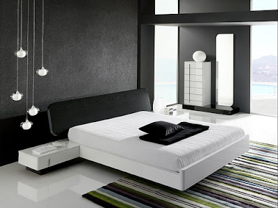 Modern Black and White Bedroom Design