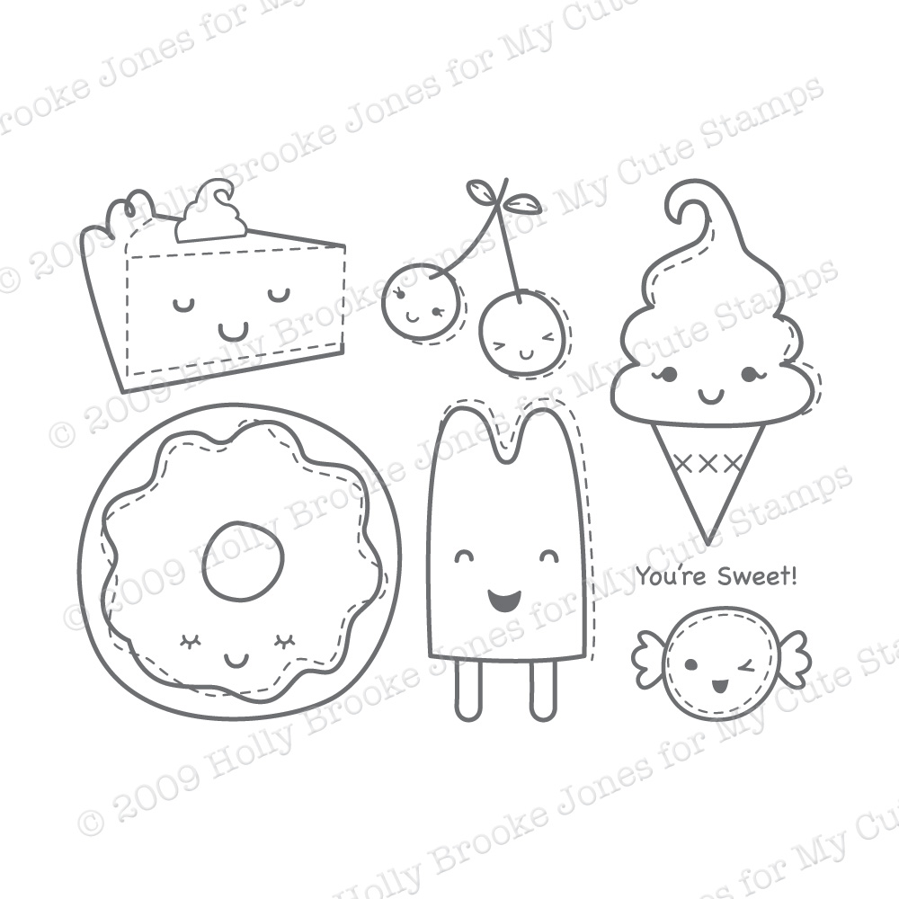 Estilo mais kawaii for Draw so cute coloring pages