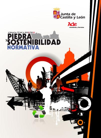 Grafismo Jornadas Técnicas 2010  Piedra y Sostenibilidad Instituto tecnológico de Castilla y León