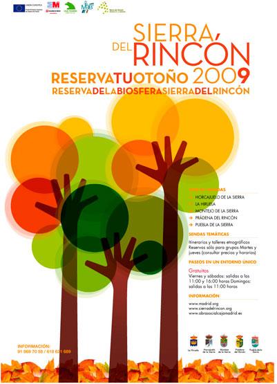 Cartel perteneciente a la campaña Otoño Sierra Rincón 2009