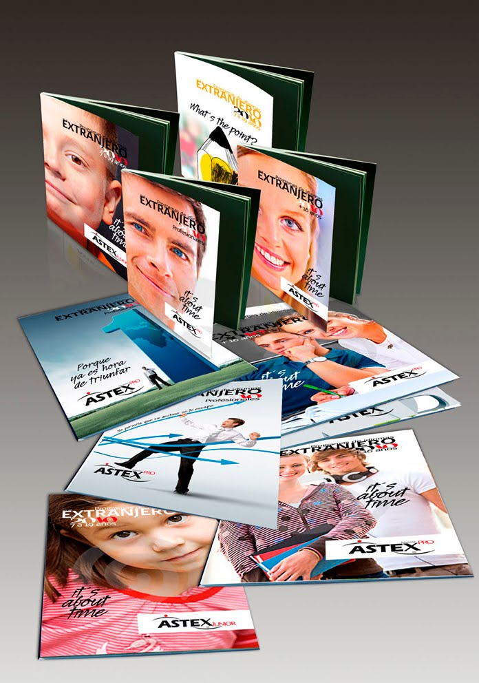 Catálogos de las diferentes campañas para Astex división Jóvenes y Ejecutivos 2004/2010