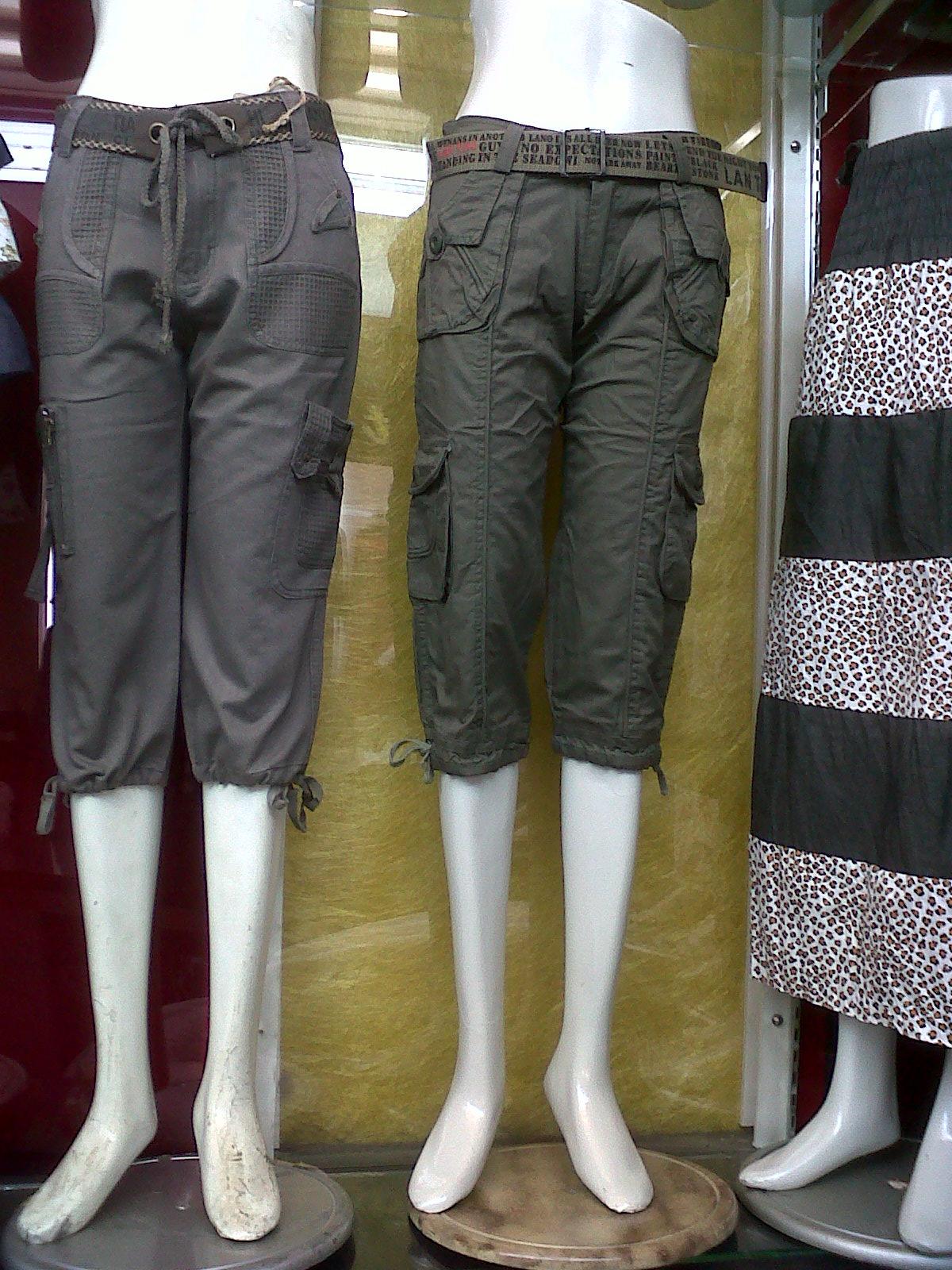 Gaya Busana Koleksi Fashion Celana Cewek Tanggung Polos