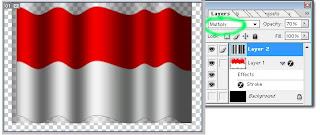 Tutorial  Photoshop - Membuat Bendera Berkibar