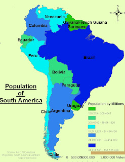 Angelas Blog Population Of South America - South american population map