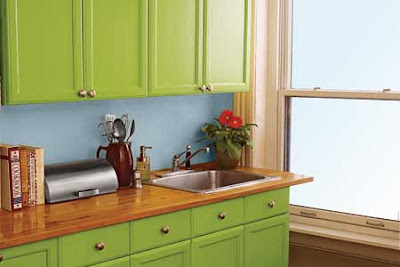 Decorate on a Budget – Refinish Cabinets, Use or Remove Curtains