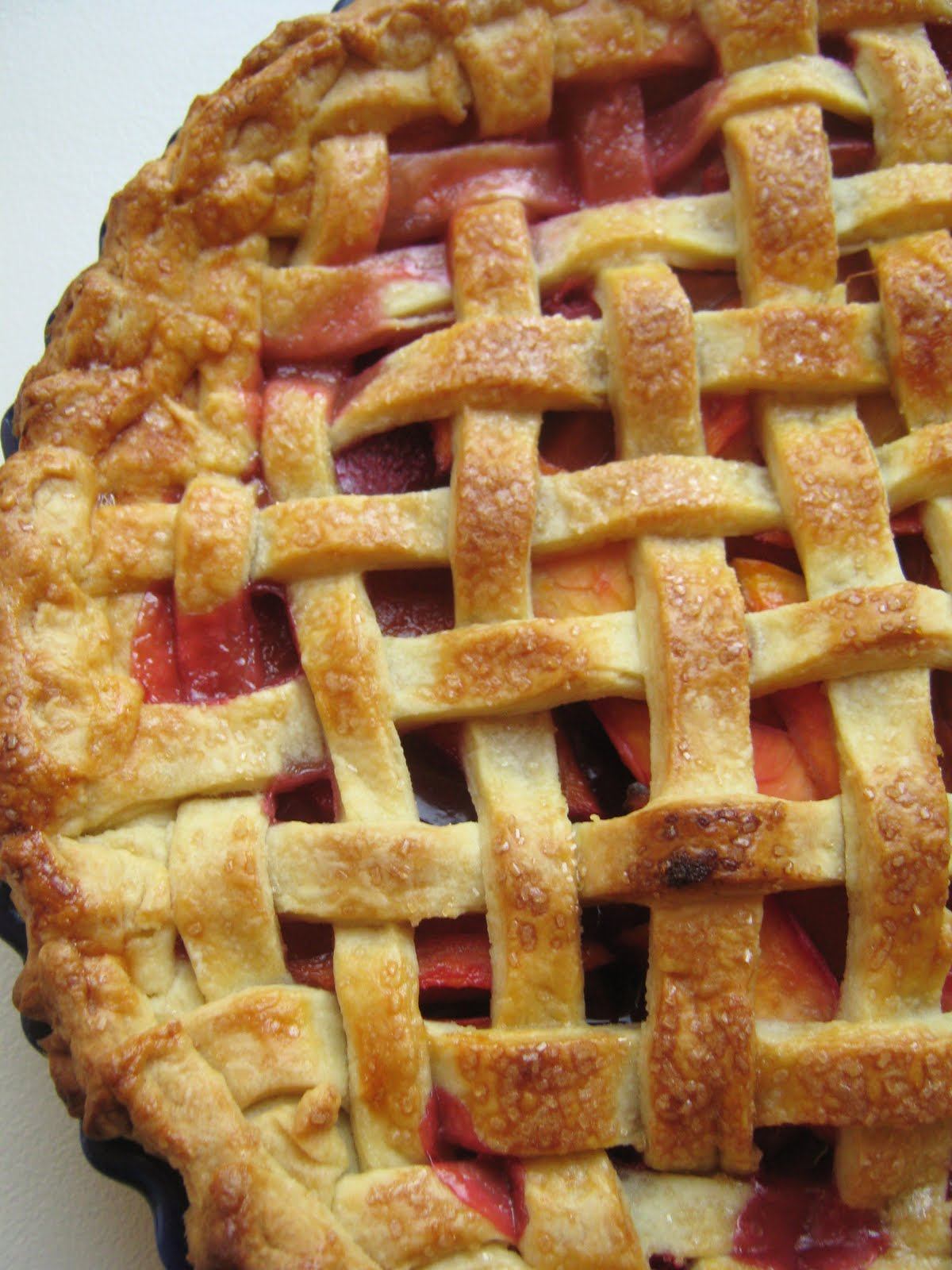 This nectarine raspberry pie, the ultra sweet fruit with the..