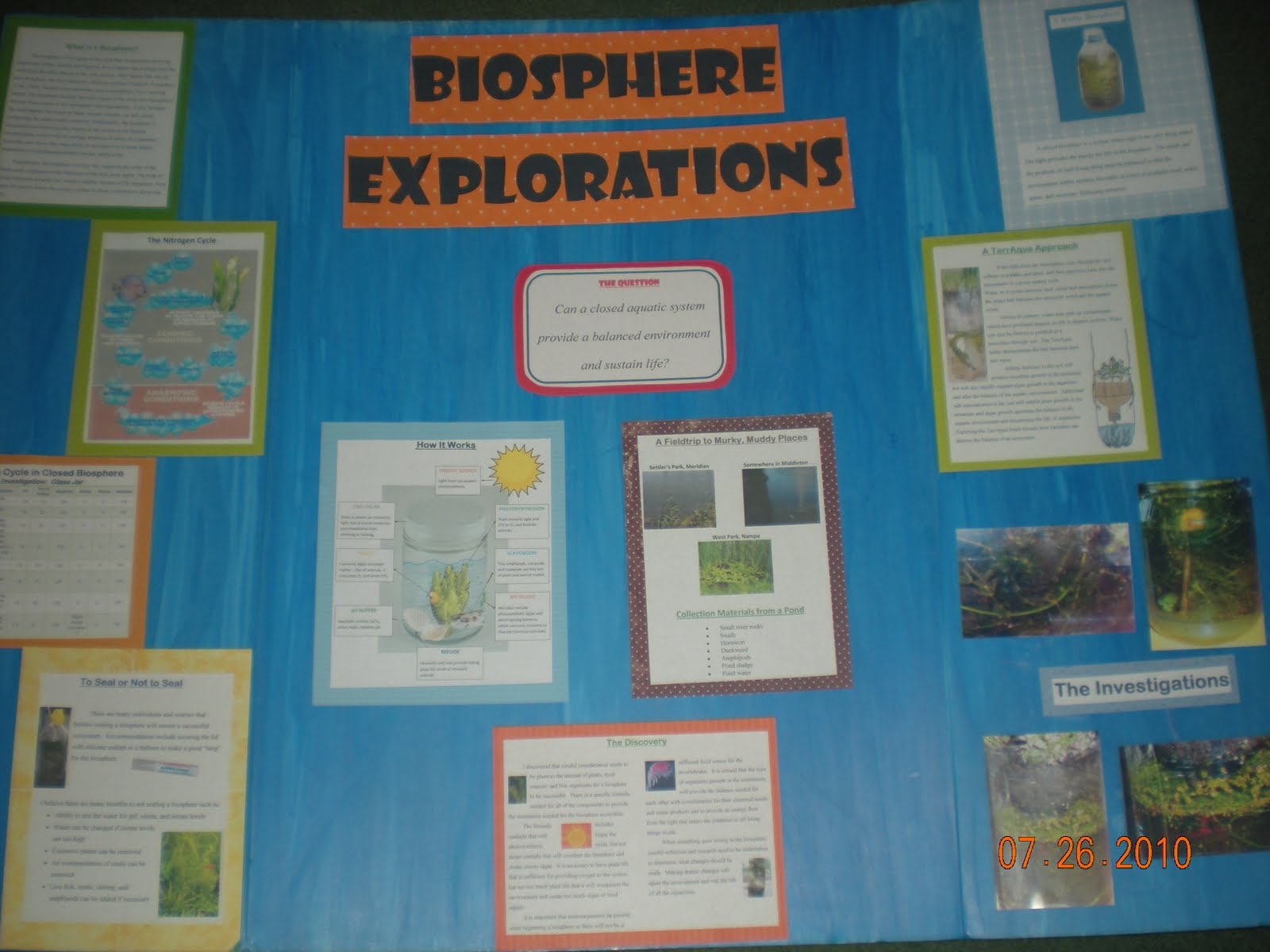 how to make a biosphere science project