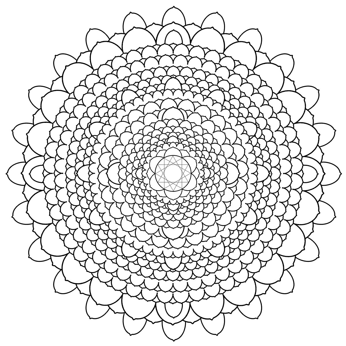 difficult mandala coloring pages - photo#26