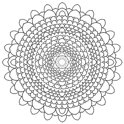 Brightlight Mandalas: Thousand Petal Lotus