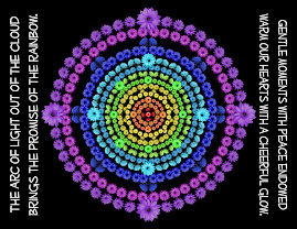RAINBOW MANDALA 1 WITH POEM