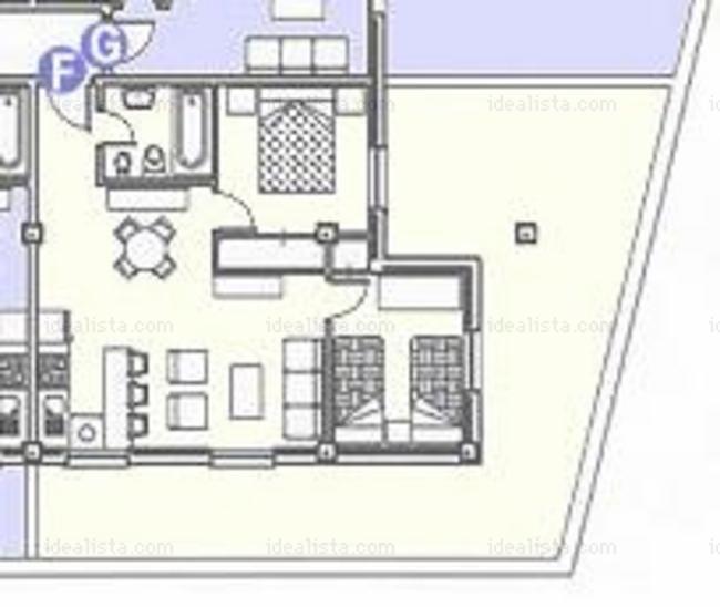 Apartamento en rota cadiz alquiler verano plano del for Alquiler piso rota verano
