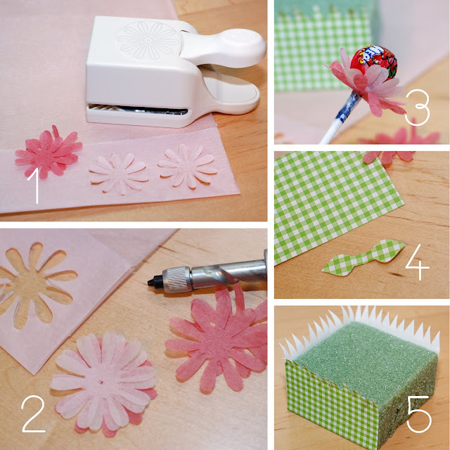food gifts: lollipop flowers tutorial
