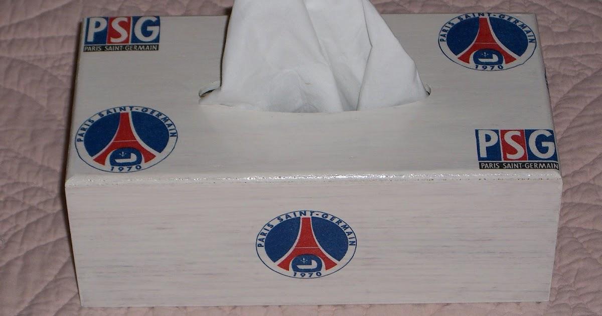 Plaisirs et passion du serviettage boite a mouchoirs psg - Papier peint psg ...
