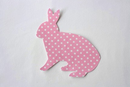 Easter Lettering with Bunny Applique Design
